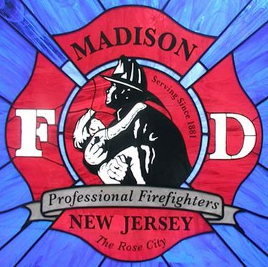 Original Madison Fire Department Professional Firefighters of New Jersey logo