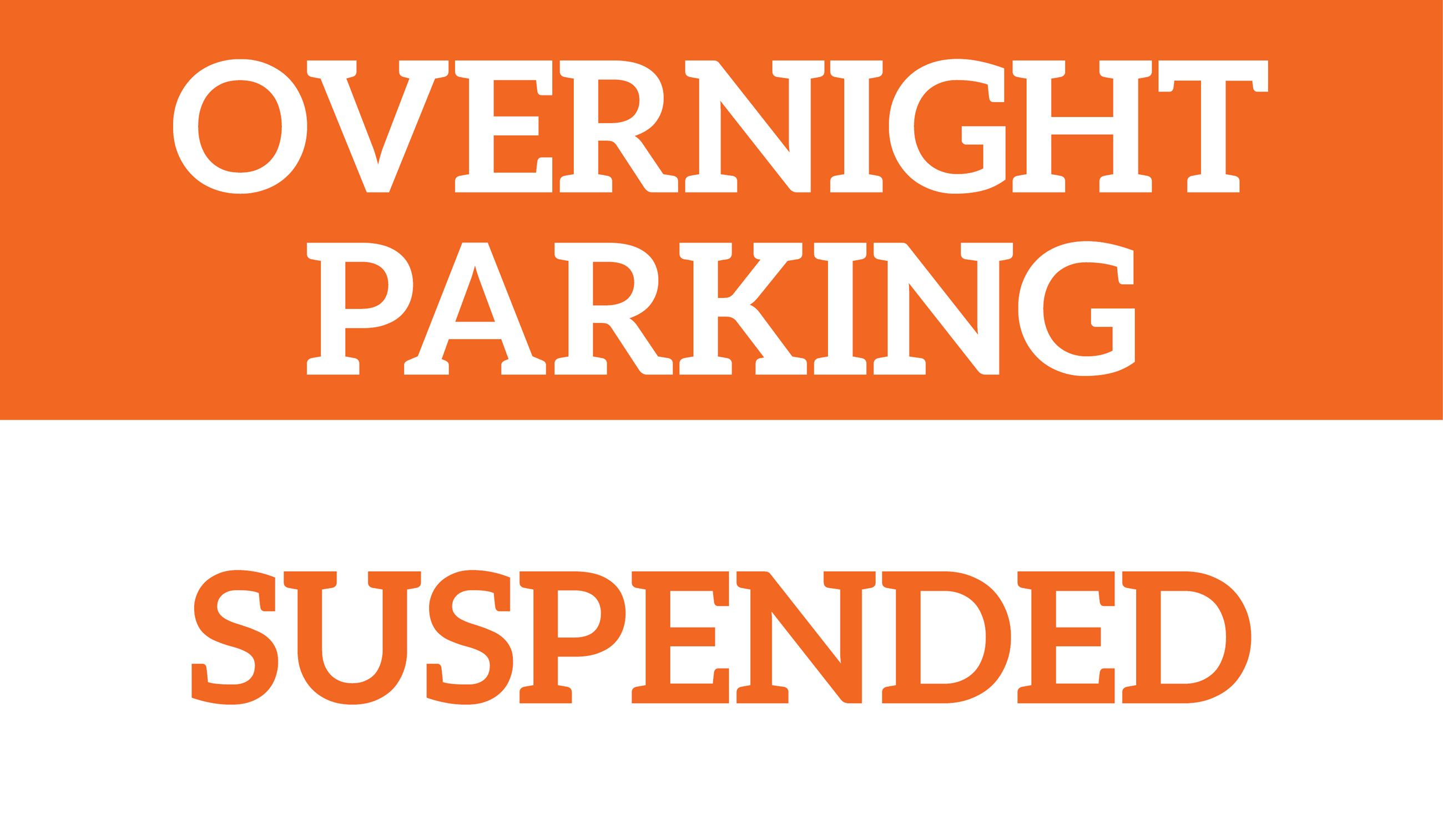 Overnight Parking Suspended