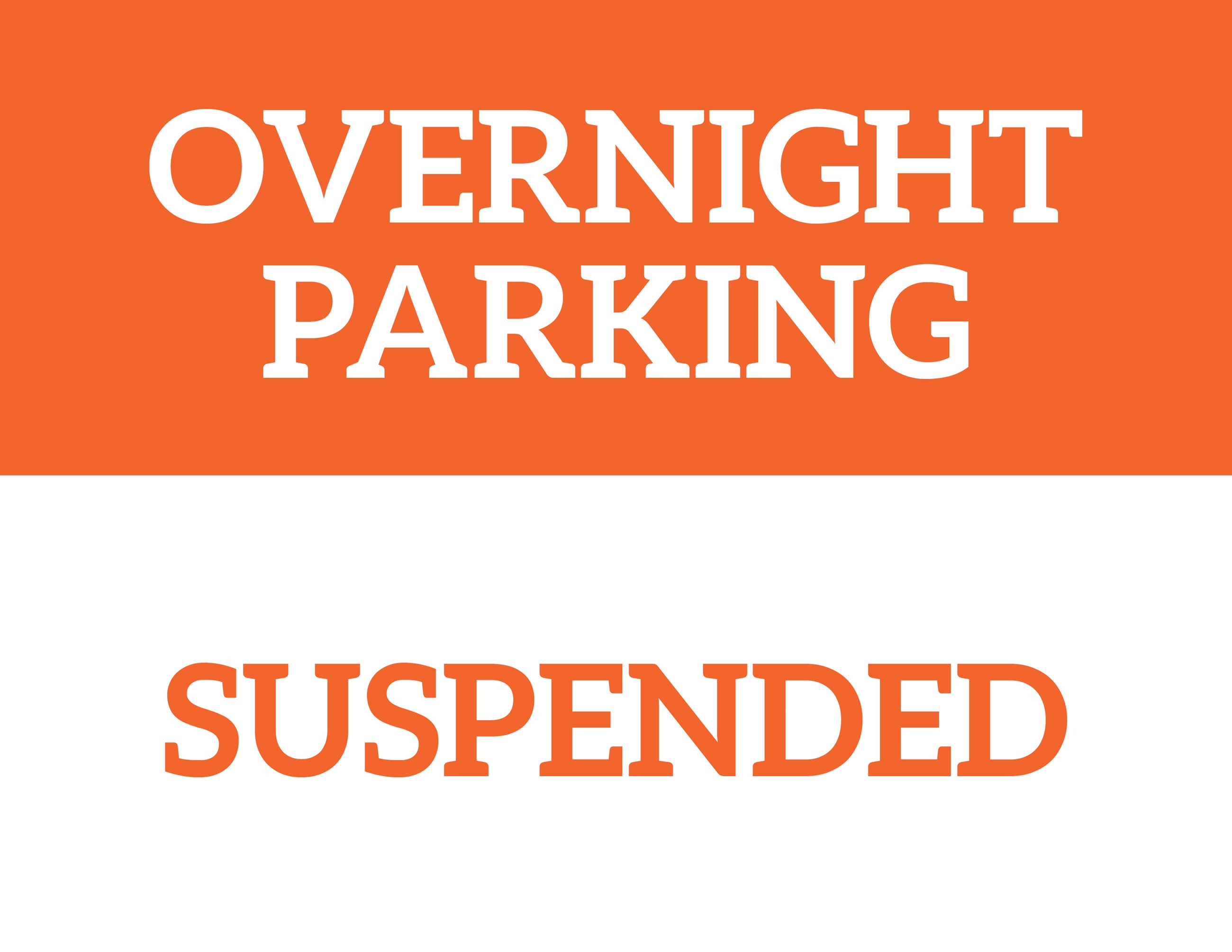 Overnight Parking Suspended_Construction