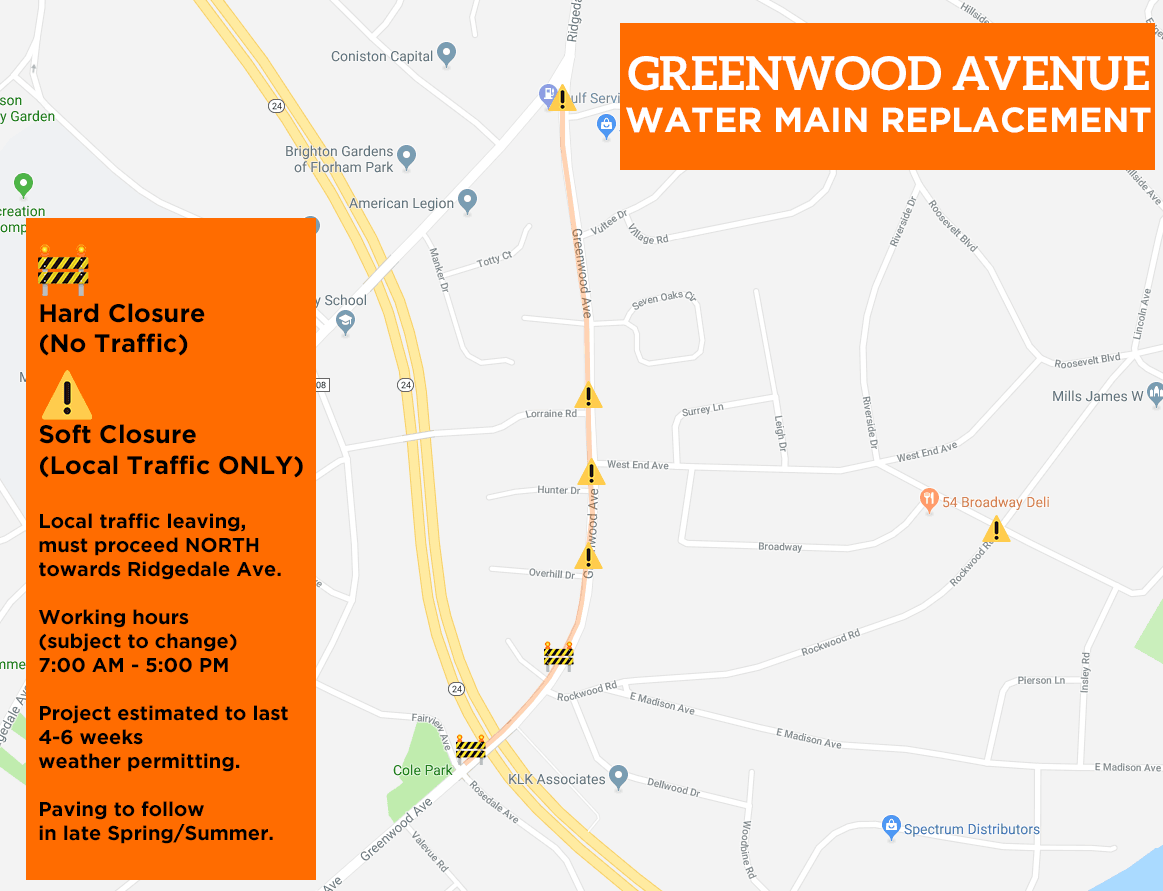 Greenwood Ave Closures