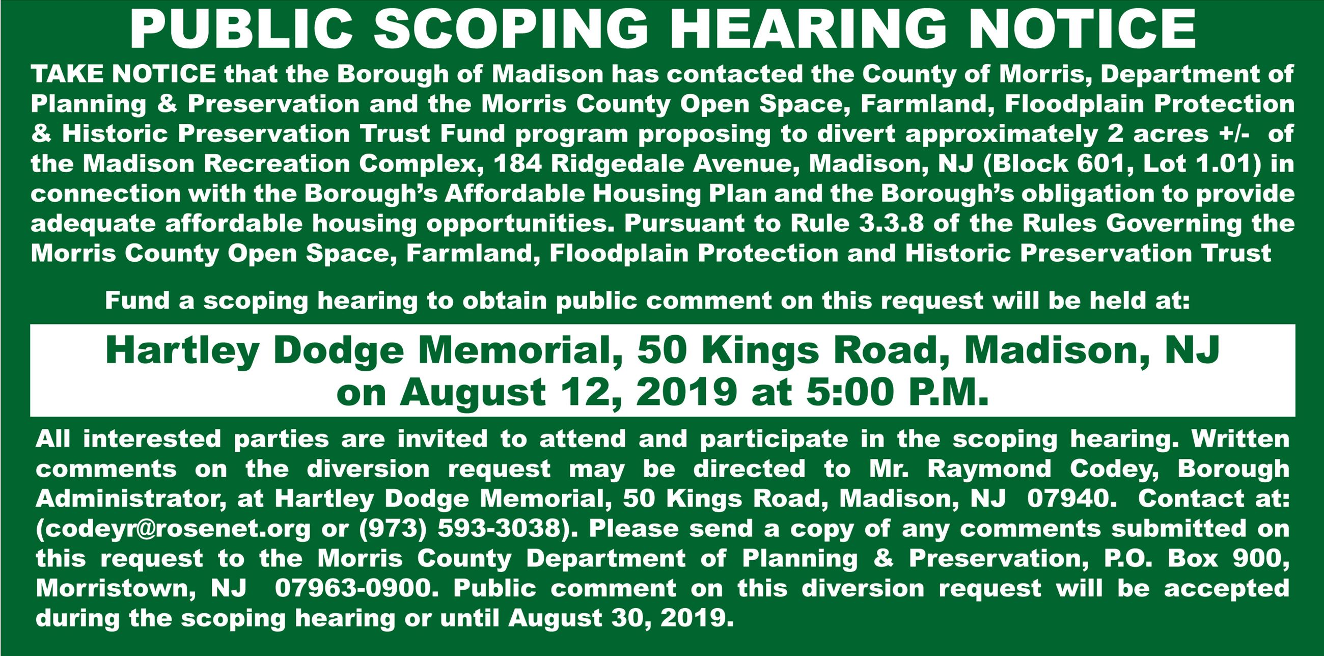 Borough-of-madison--public-scoping-hearing-notice