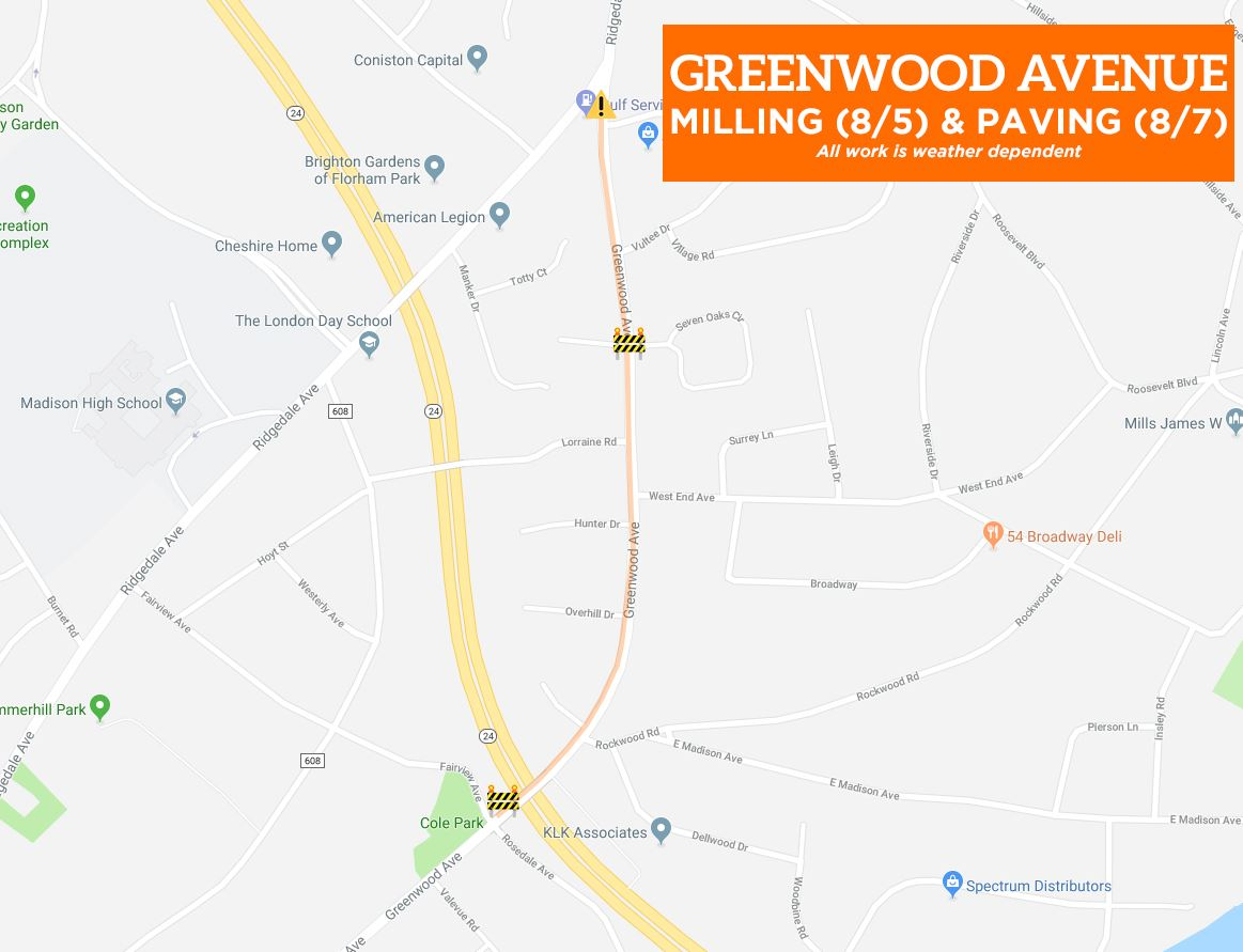 Greenwood Ave Closures - Paving