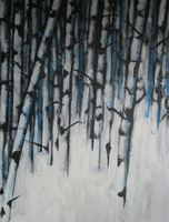 Birch On Blue
