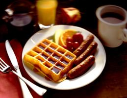 Waffle and Sausages