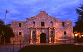 Texas-Alamo at Sunset