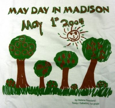 May Day in Madison 2004 Poster