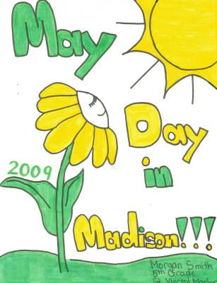 May Day in Madison 2009 Poster